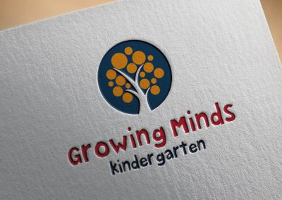 Growing Minds Kinder Garden Logo Tasarımı